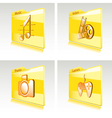 Set of folders vector image vector image