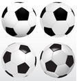 set of soccer ball football on white background vector image vector image