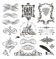 set of vintage decorative ornament borders and vector image