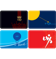 set of vip plastic cards vector image