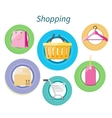 Shopping Consumerism Flat Design Style vector image