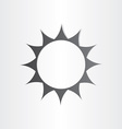 stylized sun rays summer icon vector image vector image