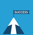 succcess mountain with arrow vector image