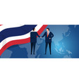 thailand international partnership diplomacy vector image vector image