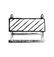 traffic barrier flat icon monochrome blurred vector image vector image
