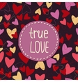true love background whit hearts vector image vector image