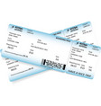 two boarding pass tickets vector image vector image