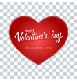valentines day flyer special sale offer vector image