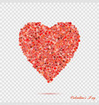 valentines red heart shape with many dots vector image vector image