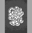 vintage lettering born to be free on dark gray vector image