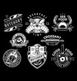 vintage monochrome cooking emblems vector image vector image