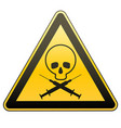 warning sign drug addiction and aids caution - vector image vector image