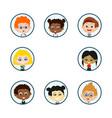 circle children portraits vector image