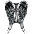 cross wing emblem vector image