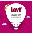 Balloon cut out of paper with the words Love vector image