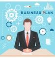Flat Illlustration Business Plan vector image