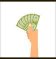 hand holding money vector image