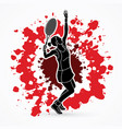 woman tennis player sport woman action serve vector image