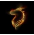 fire dragon vector image