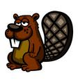 a cartoon beaver vector image vector image