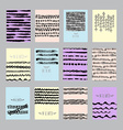 abstract cards set vector image vector image
