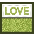 abstract green natural texture love text vector image vector image