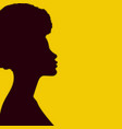 african american woman silhouette vector image