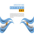 argentina national day template design vector image