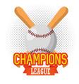 baseball sport champion league vector image