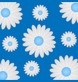 beautiful white daisies on a bright background vector image vector image