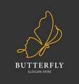 butterfly luxury and minimalist logo template vector image vector image