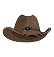 cowboy hat - vintage engraved vector image