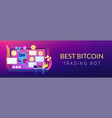 crypto trading bot concept banner header vector image vector image