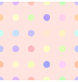 cute pastel rainbow or colorful polka background vector image