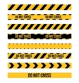 Danger Tape Lines vector image vector image
