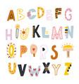 decorative kids alphabet creative abc isolated vector image