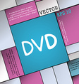 dvd icon sign Modern flat style for your design vector image