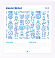 engineering concept with thin line icons vector image vector image