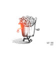 fast food concept hand drawn isolated vector image vector image