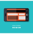 Flat design concept of mobile payment process vector image