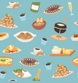 french cuisine seamless pattern national menu vector image vector image