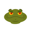 frog merry emoji toad avatar good amphibious vector image vector image