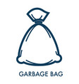 garbage bag with trash and disposal sack vector image