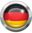 Germany flag metal button vector image vector image