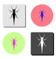 grasshopper flat icon vector image