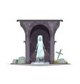 graveyard evil character vector image
