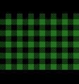 green and black lumberjack seamless pattern vector image vector image