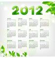 Green Calendar 2012 vector image