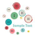 group sewing buttons with sample text vector image