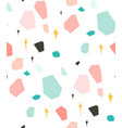 hand drawn abstract graphic simple terrazzo vector image